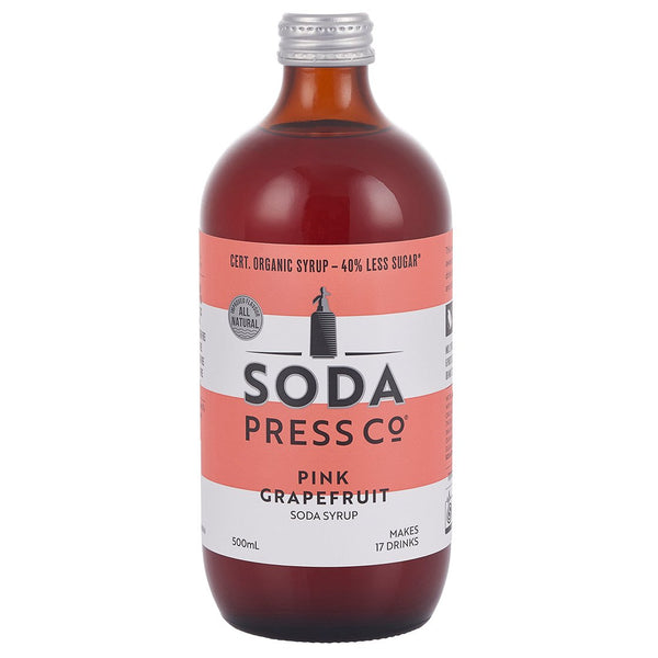 Soda Press Co Organic Pink Grapefruit - 500ml