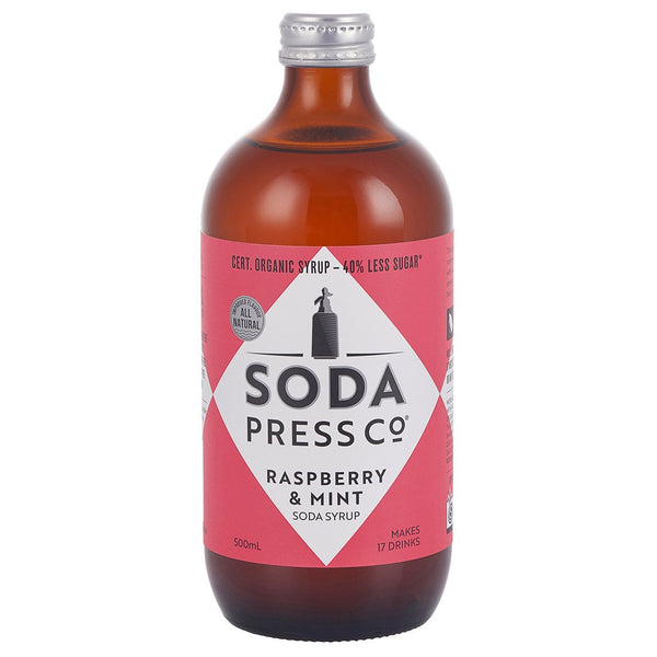 Soda Press Co Raspberry & Mint - 500ml