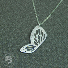Load image into Gallery viewer, Sterling silver spots & dots butterfly wing necklace