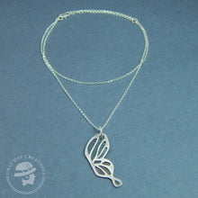 Load image into Gallery viewer, Sterling silver ebb & flow butterfly wing necklace