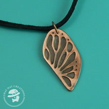 Load image into Gallery viewer, Copper monarch butterfly wing necklace