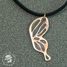 Load image into Gallery viewer, Copper butterfly necklace
