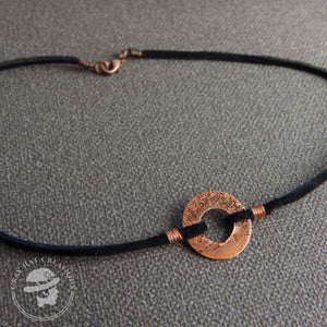 Copper Acid Washer necklace