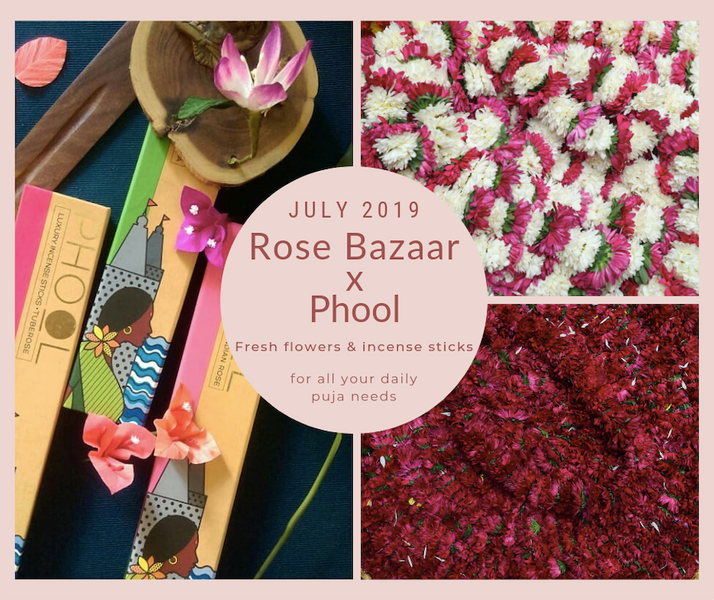 Rose Bazaar X Phool: Natural Incense Sticks with your Puja Flowers