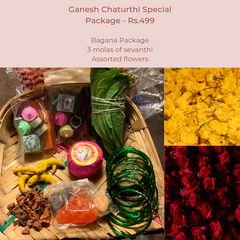 Rose Bazaar, Ganesh Chaturthi, festival, story behing ganesh Chaturthi, curated packages, home delivery, puja/pooja, banana, assorted flowers, mola, garlands,
