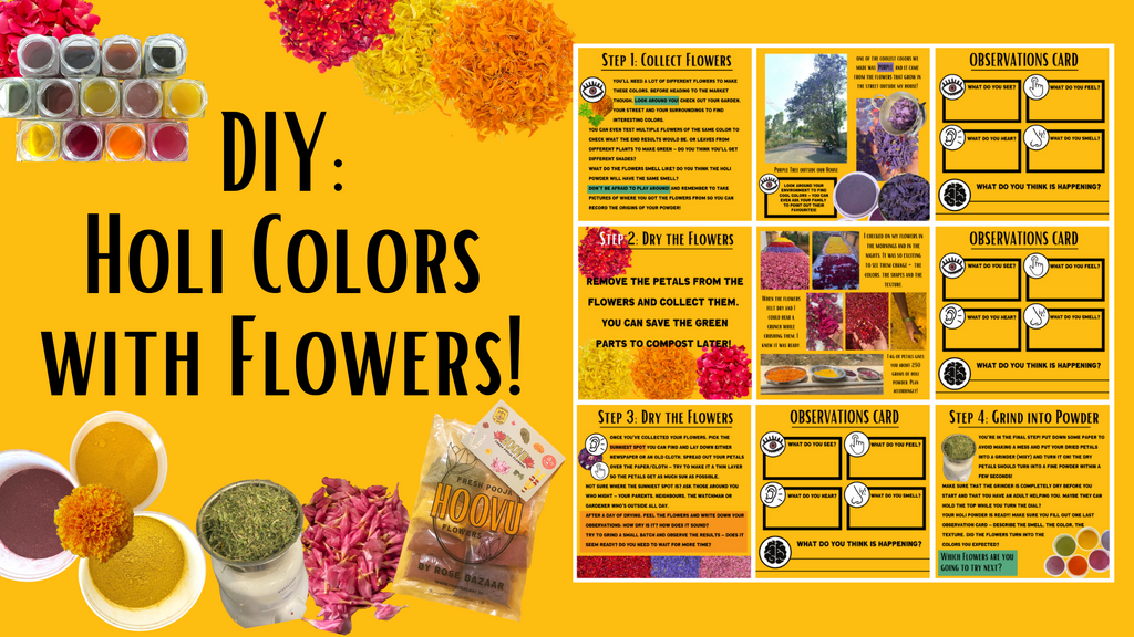 DIY Holi colors with flowers