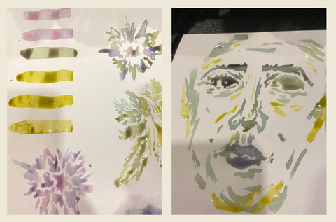 Paint color with flower