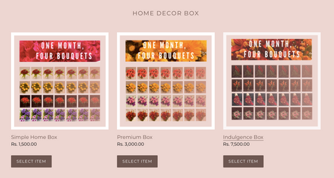 Rose bazaar, home decor subscription, subscription box, simple home box, premium box, indulgence box, home delivery