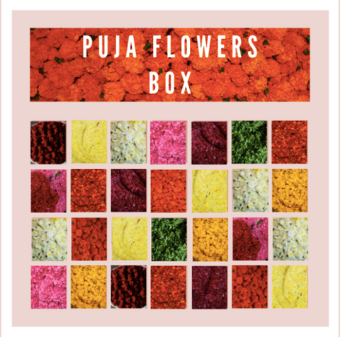 Rose Bazaar, Puja/pooja flower box, subscription box, home delivery, jasmine, marigold, shevanti, roses, paneer roses, karishma roses, customised delivery