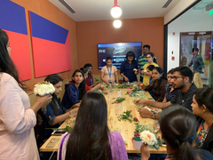 Rose Bazaar, Wework, Embassy Tech Village, Flower workshop, flower tin, home decor, home delivery, bangalore