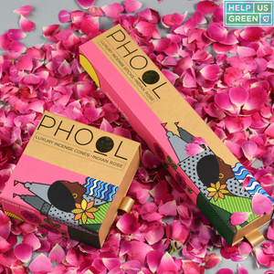 Phool incense or agarbathi in rose petals