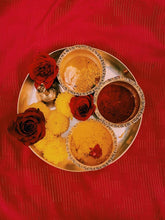 Load image into Gallery viewer, Puja or Pooja flowers calendar from Rose Bazaar (marigold, roses, jasmine)