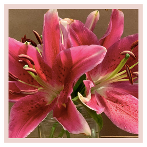 Pink  Liliums or lilies home decor bouquets by Rose Bazaar