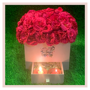 Flower box gifting rose roses pink gift flowers bouquet Rose Bazaar Karuturi
