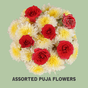 Assorted pooja flowers