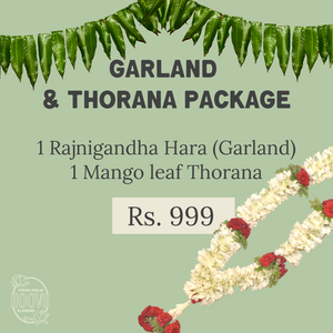 Garland and Thorana Package: Rajnigandha - One Time