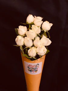 white roses flowers home decor bouquet by Rose bazaar