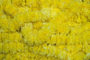 Yellow Marigold Puja or Pooja flowers garland from Rose Bazaar