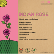 Load image into Gallery viewer, Indian Rose incense of agarbathi from Phool on Rose Bazaar