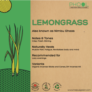 Lemongrass incense of agarbathi from Phool on Rose Bazaar