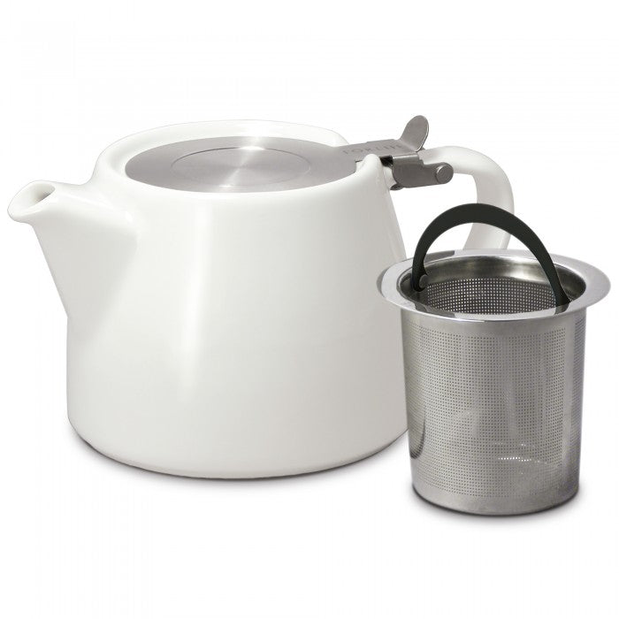Stump Teapot with Stainless Steel Lid and Infuser-18 oz