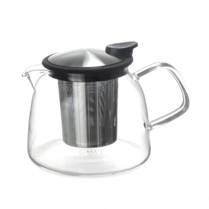 Bell Glass Teapot with Basket Infuser 24oz