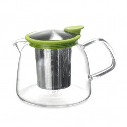 Bell Glass Teapot with Basket Infuser 43oz