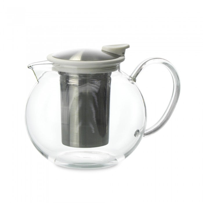 Bola Glass Teapot with Basket Infuser 38oz