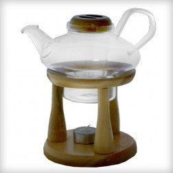 Glass Tea Pot with Wooden Stand 22oz