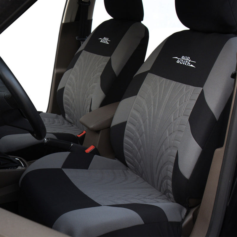 AUTOYOUTH Brand Embroidery Car Seat Covers Set Universal