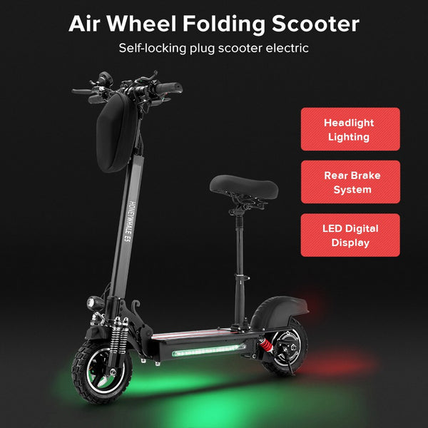 E5 Folding Electric Scooter 600W Brushless Motor Max Speed 40KM/h 40KM