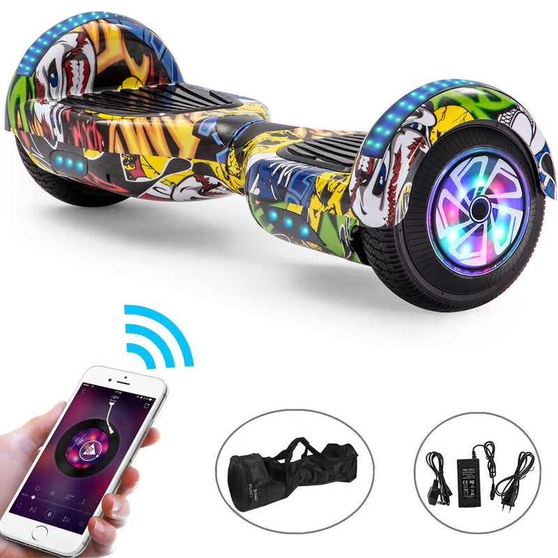 Hoverboard 6.5 Inch Bluetooth /Scooter LED Electric Scooters