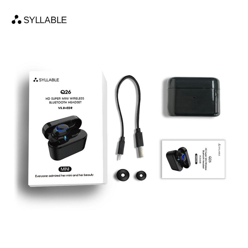 SYLLABLE Q26 Single pack bluetooth V5.0 headset for Android IOS wireless