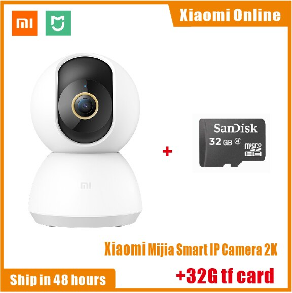 Original  Xiaomi Mijia Smart IP Camera 2K 360 Angle Video WiFi Night Vision Wireless Webcam Security Cam View Baby Monitor CCTV