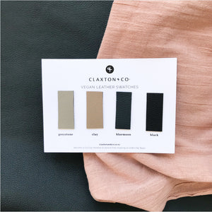 Vegan Leather Swatch Card