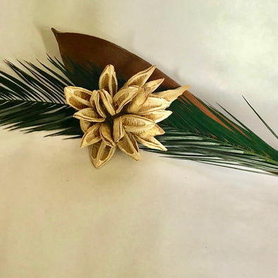 Preserved Palm + Paddle centerpiece