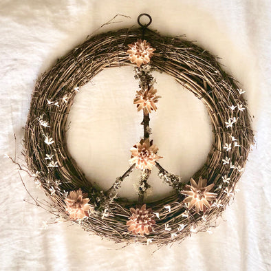 Small Grapevine Peace Wreath