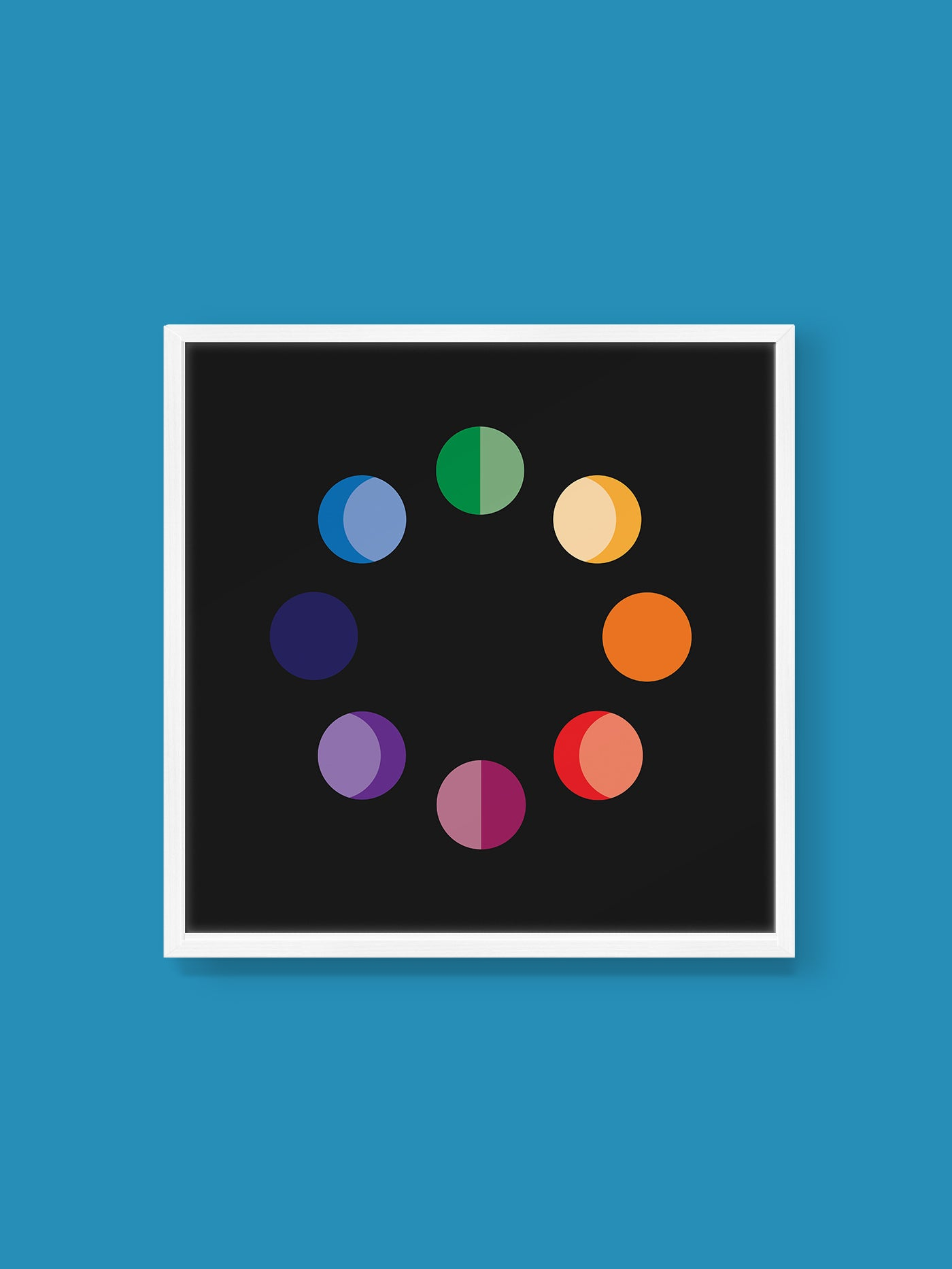 Moon Color Wheel Print