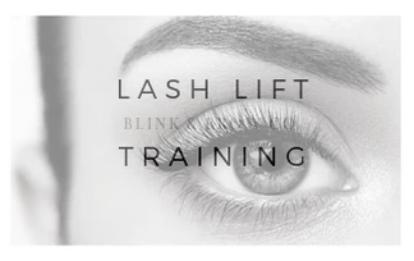 Prince George Blink & Brow Co. Lash Lift & Tint Certification