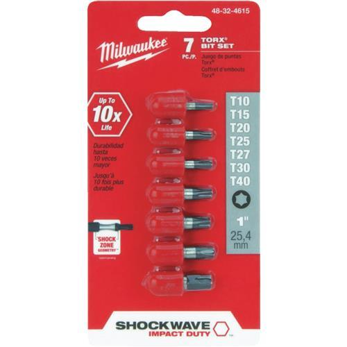 Milwaukee Shockwave 7-Piece Torx Impact Screwdriver Bit Set 48-32-4615
