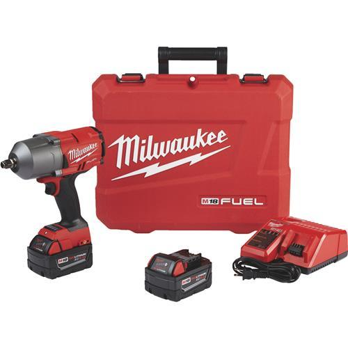 Milwaukee M18 FUEL Lithium-Ion High Torque Brushless Cordless Impact Wrench Kit 2767-22