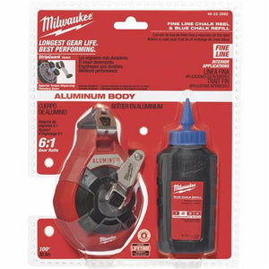 Milwaukee Fine Chalk Line Reel and Chalk 48-22-3992