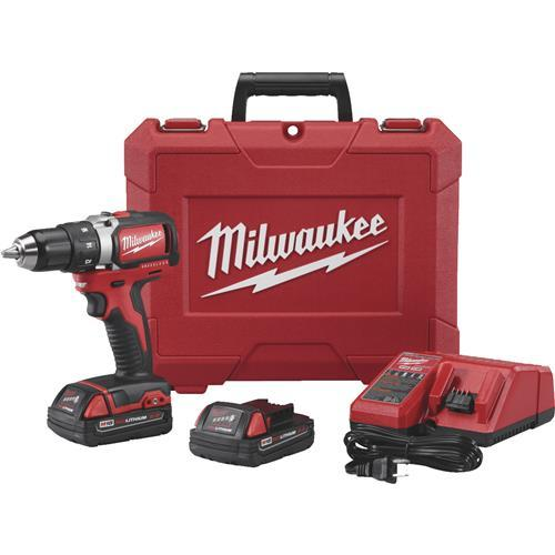 Milwaukee M18 Lithium-Ion Brushless Compact Cordless Drill Kit 2701-22CT