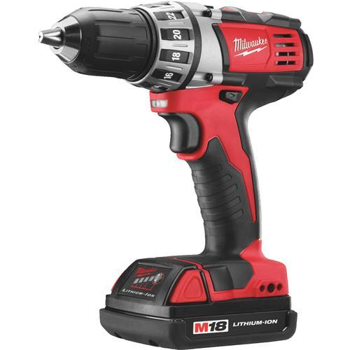 Milwaukee M18 Lithium-Ion Compact Cordless Drill Kit 2606-22CT