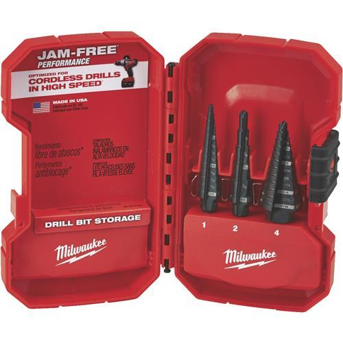 Milwaukee 3-Piece Step Drill Bit Set 48-89-9221