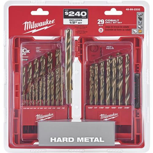 Milwaukee Red Helix 29-Piece Cobalt Drill Bit Set 48-89-2332