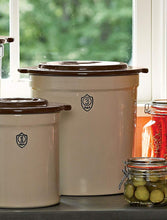 Load image into Gallery viewer, 3-Gallon Stoneware Pickling Crock Complete Kit