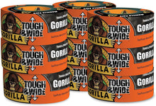 Load image into Gallery viewer, Gorilla 6003001-9 Glue 6003001 Tough & Wide Tape, 2.88-Inch x 30-Yards, (Pack of 9), 9 - Pack, Black, 9 Piece