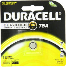 Load image into Gallery viewer, Duracell 76A Medical Battery 1.5 Volt Alkaline, 1 Count