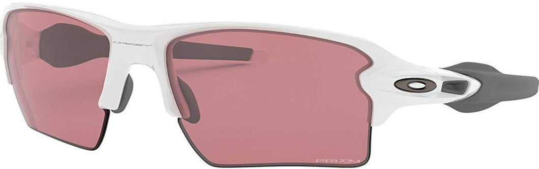OO9188 Flak 2.0 Xl Rectangular Sunglasses, Polished White/Prizm Dark Golf, 59 mm